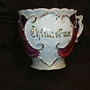 Old Germany China Decorative Cup Think Of Me Gold Trim Fine Dining German