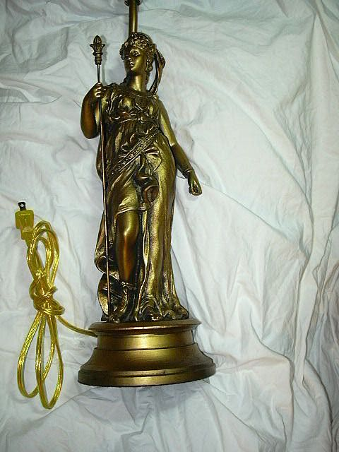 Gold Gilt Grecian Lady Lamp Fine Lighting