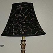 Italian Florentine Floor Lamp With Table