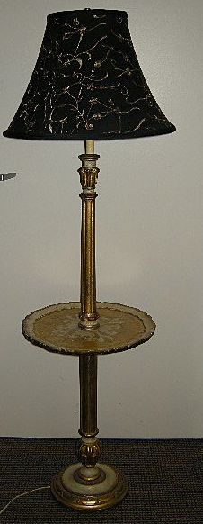 italian florentine floor lamp with table from antiques jewelry sacred. Black Bedroom Furniture Sets. Home Design Ideas