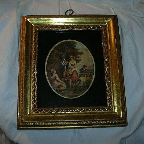 Borghese Gold Framed Art