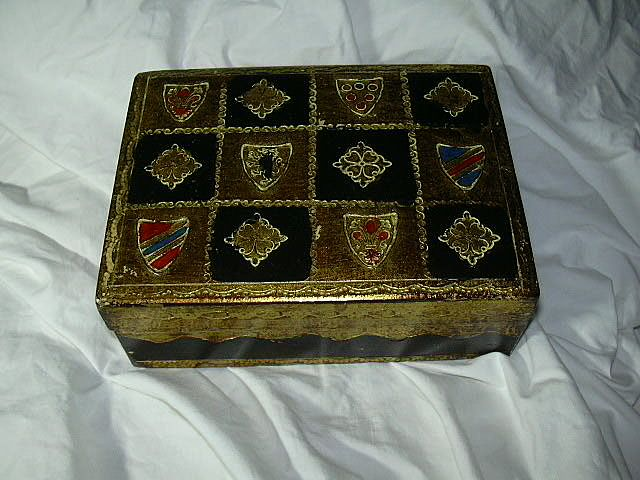 Italian Florentine Box With Shields