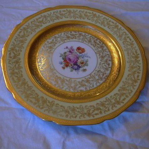 Selb Bavaria Ku0026A Krautheim Dinner Charger Plates Set 12 Gold Trim  Antiques Jewelry u0026 Sacred Treasures | Ruby Lane & Selb Bavaria Ku0026A Krautheim Dinner Charger Plates Set 12 Gold Trim ...