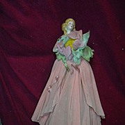 Old Half Doll Dressed Rare