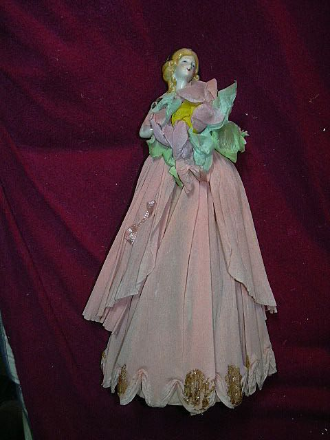 Old Half Doll Dressed Rare