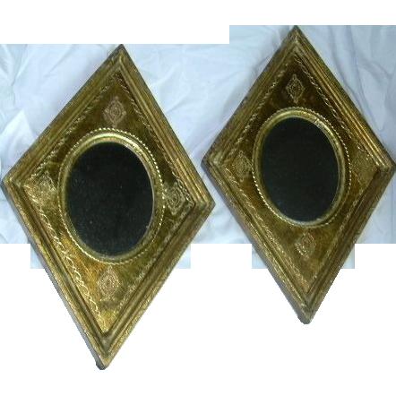 Pair Florentine Italian Gilt Mirrors