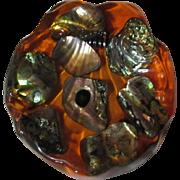 Abalone Shell Dish Orange