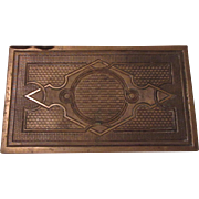 Bronze Ornate Plate From Building Architectural Decorator Piece