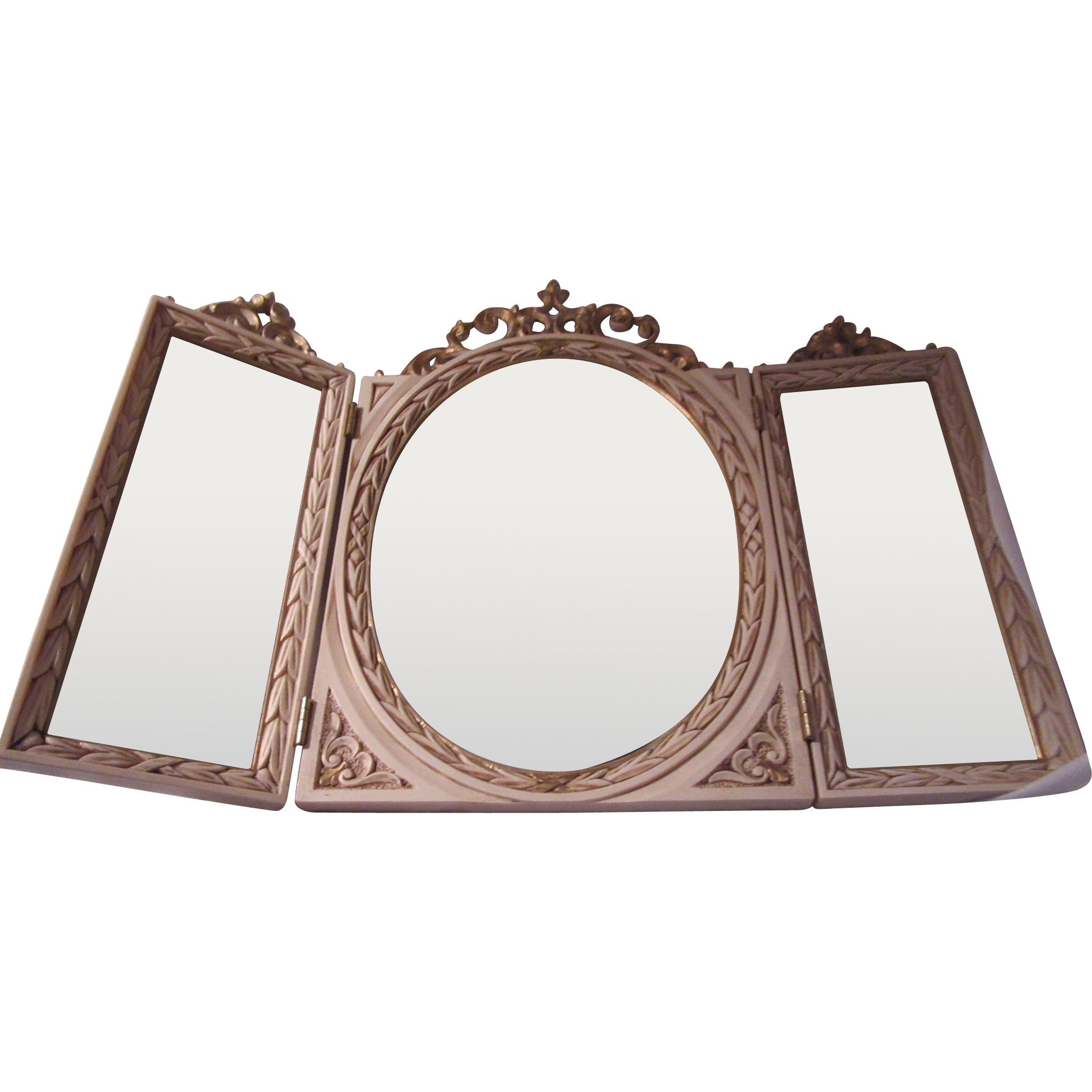 Triple Dresser Table Vanity Mirror Italian Modern