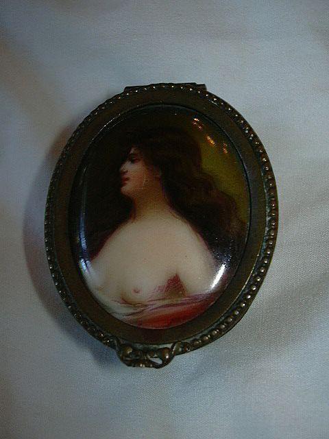Miniature Nude Portrait Painting On Porcelain Box