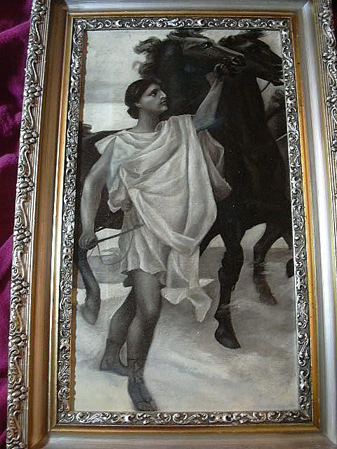 Apollo Grisaille Painting In Fine Frame