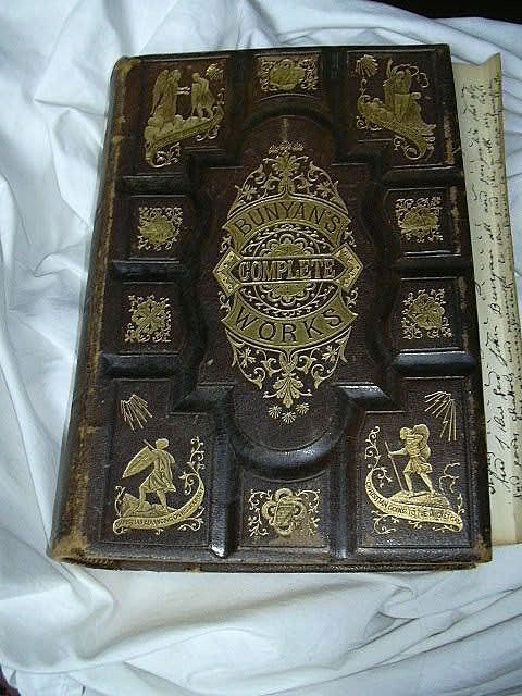 Bunyan's Complete Works Of John Bunyan 1872 Leather With Gilt Embossed Binding