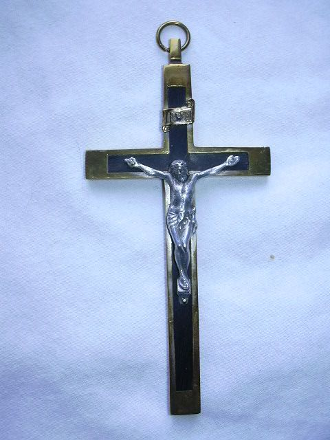 Old Nuns Priests Crucifix Germany