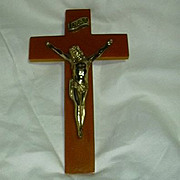 Old Bakelite Or Catalin Cross Crucifix