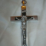 Large Nuns Priests Crucifix Wood & Metal