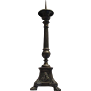 Sacred Heart Jesus and Mary Candle Stick Religious Church Brass