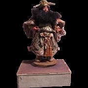 Samurai Japanese Figure Glass Eyes Original Costume Doll
