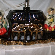 Oriental Style Lamp TV Shape Figural Lighting