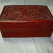 Carved Cinnabar Box