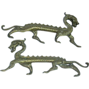 Pair Chinese Dragons Statues