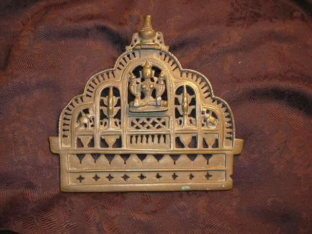 Old India Brass or Bronze Altar Piece Buddha Shiva Yoga Hindu Metalwork Art