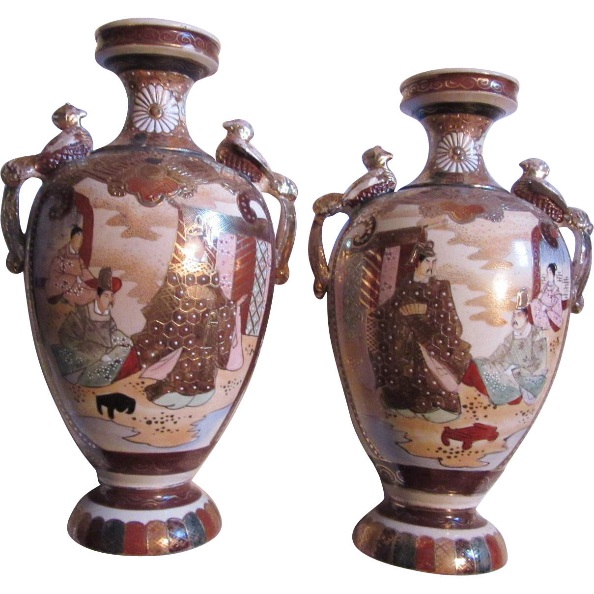Satsuma True Pair Vases