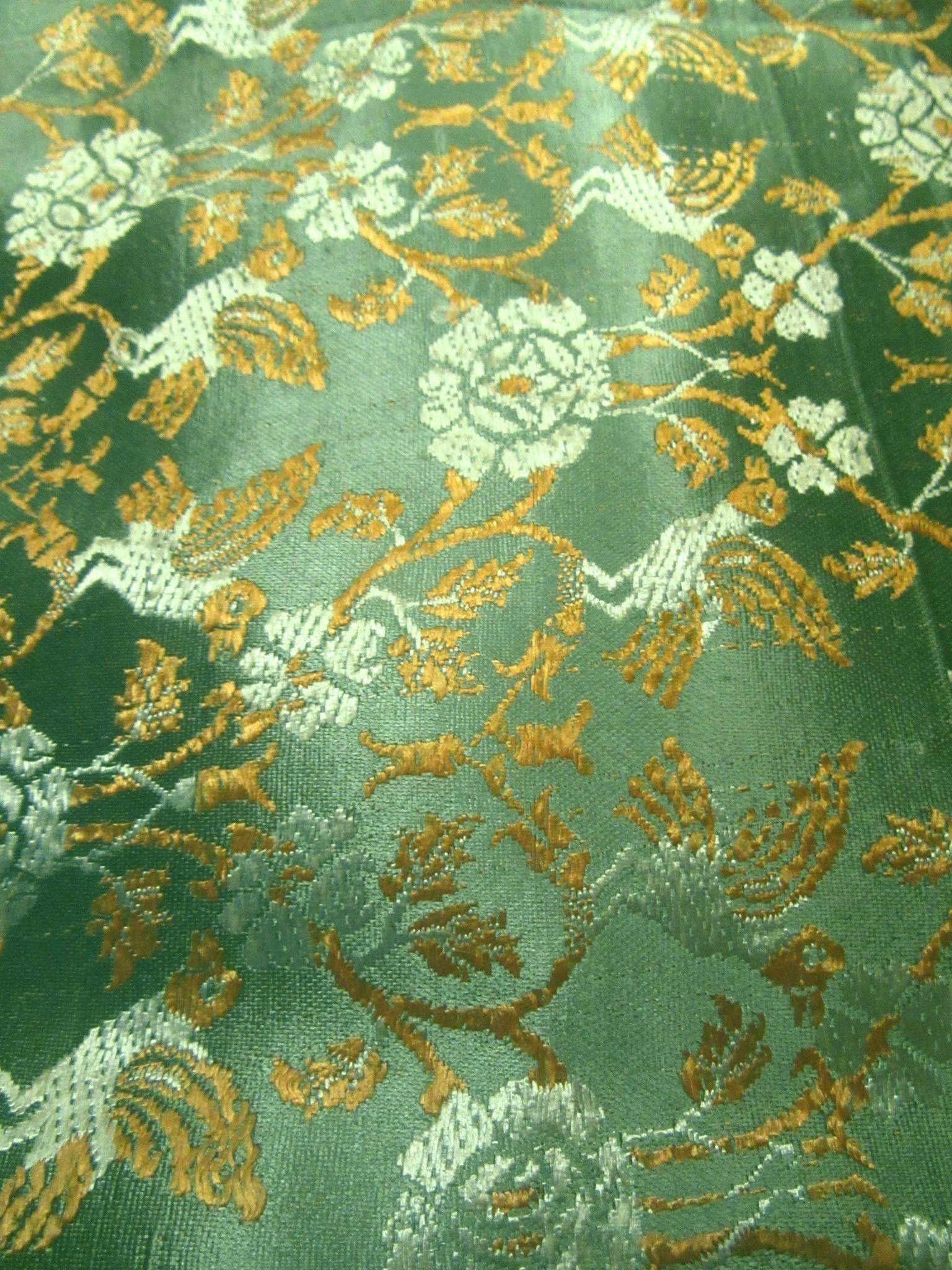Brocade Fabric Table Cloth Runner Sari