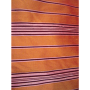 Bright Gold Pure Silk  Dupioni With Dark Purple Stripe 4+ Yards Vintage Fabric