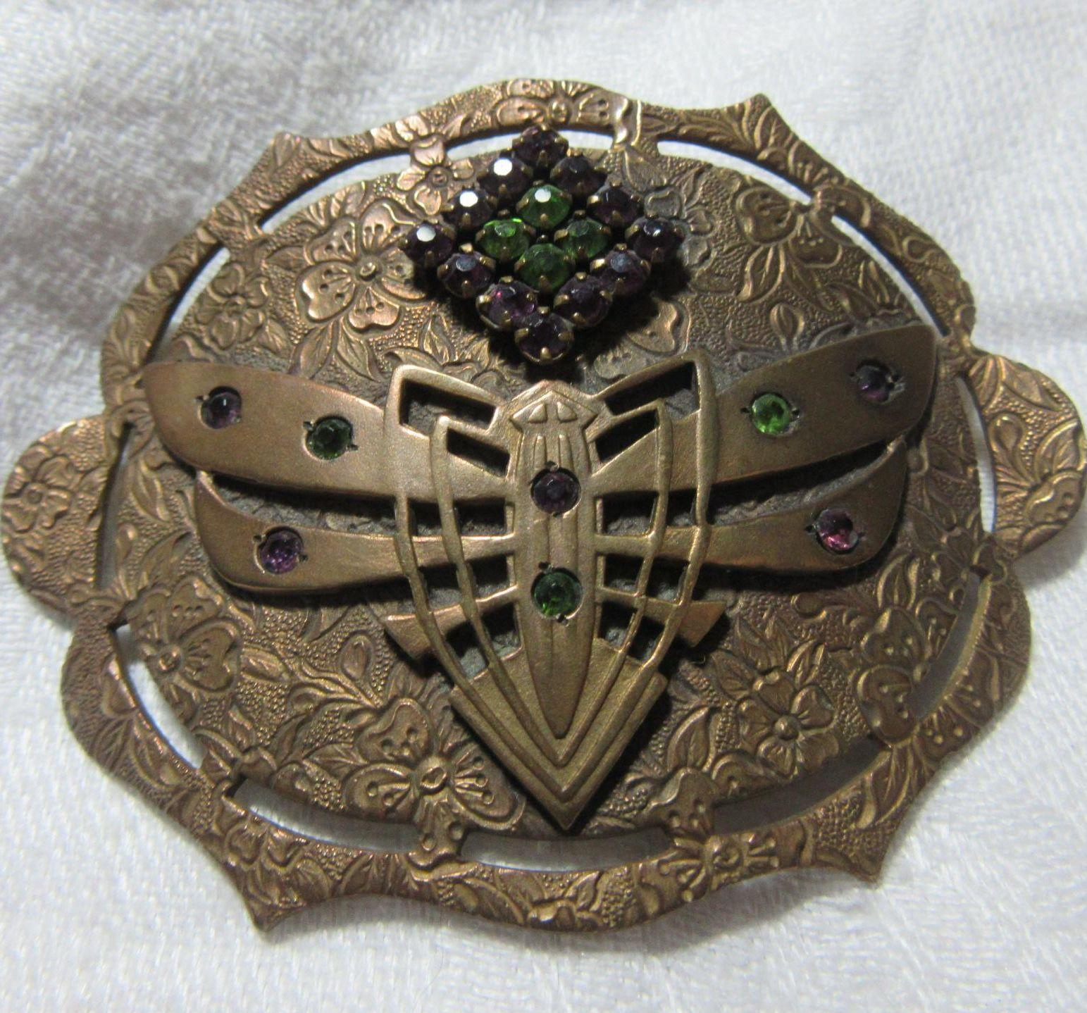 Art Deco Brooch Dragonfly