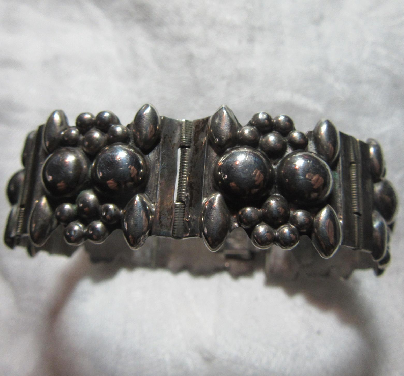 Mexican Sterling Silver Bracelet Ornate Design Fine Jewelry
