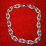 Sterling Silver Flowers Necklace Fine Jewelry