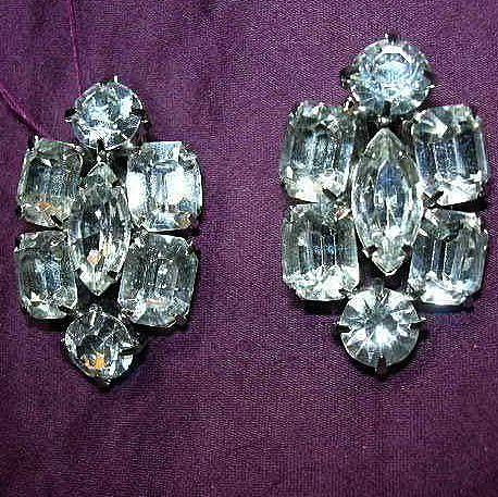 Brilliant Rhinestone Clip Earrings