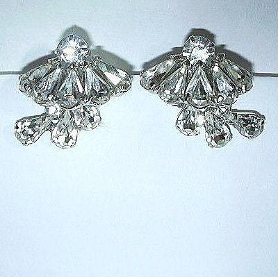 Fabulous Rhinestone Clip Earrings