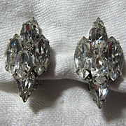 Weiss Rhinestone Clip Earrings