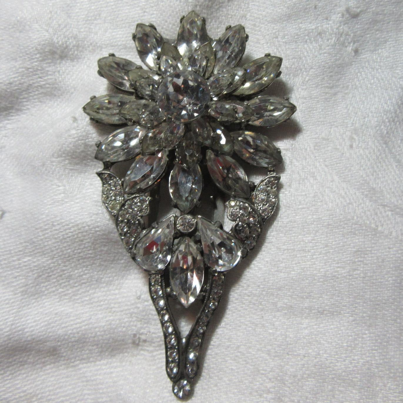 Eisenberg Original Rhinestone Dress Clip