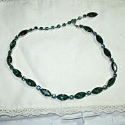 Emerald Green Rhinestone Necklace