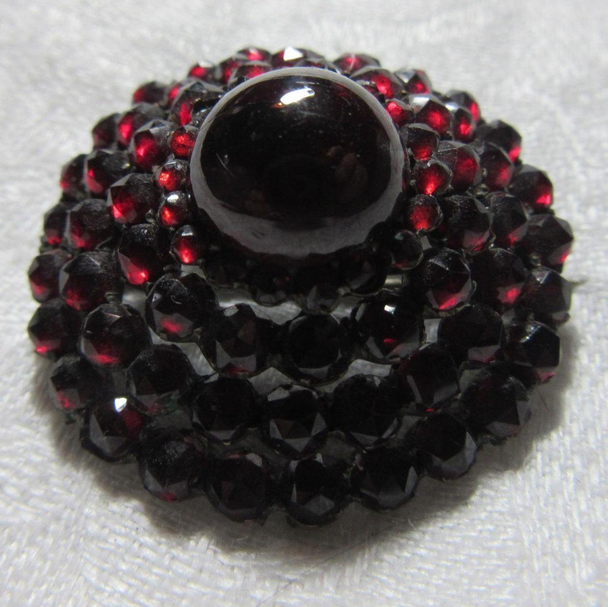 Garnet Victorian Brooch