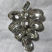 Weiss Rhinestone Brooch Pin