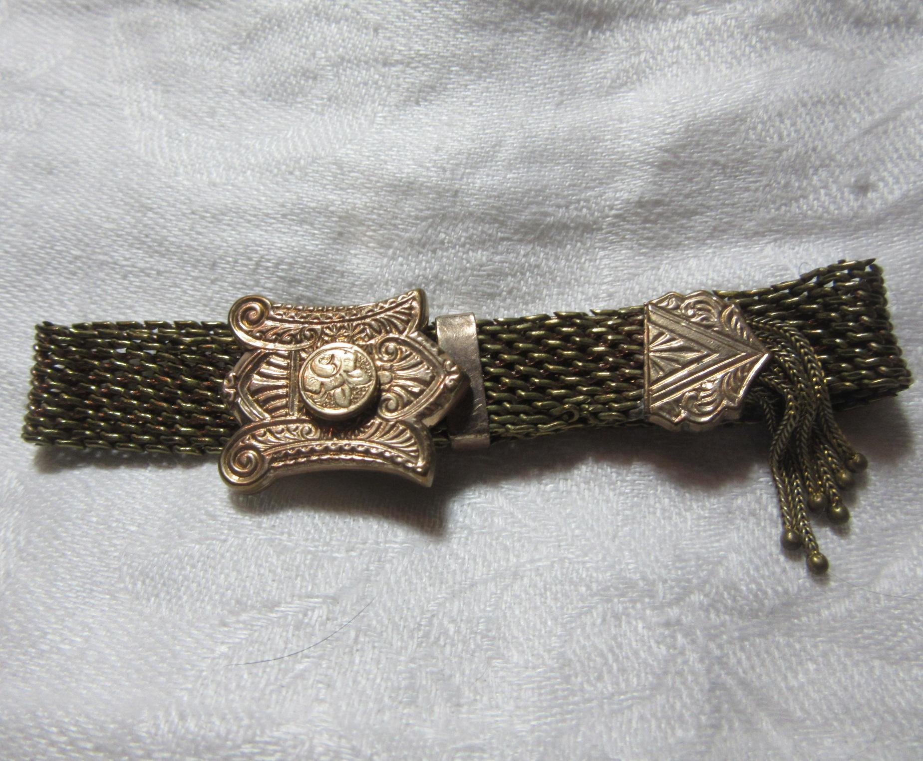 Victorian Gold Filled Slide Bracelet