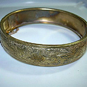 Victorian Gold Filled Bangle Bracelet