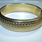 Old Gold Filled Bangle Bracelet