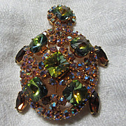Jeweled Turtle Pin