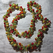 Old Plastic Fruit Beads Necklace