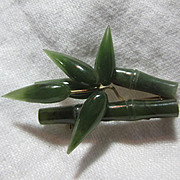 Green Jade Bamboo Design PIn