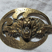 Fabulous Lion Pin Sash Brooch