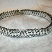 Rhinestone Expansion Dog Collar Choker Necklace