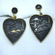 Oriental Heart Earrings