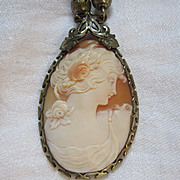 Old Carved Shell Cameo Necklace Fine Jewelry
