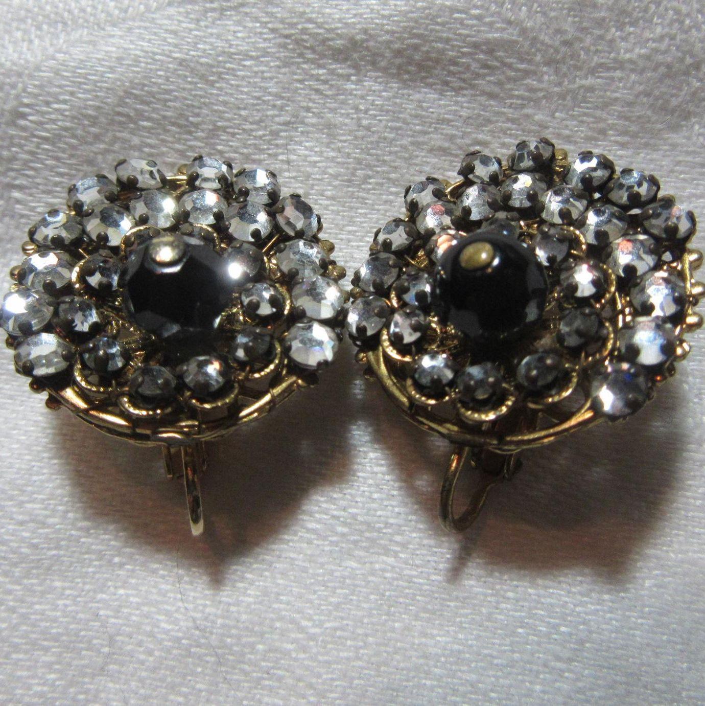 Clip Earrings rhinestones & Bling