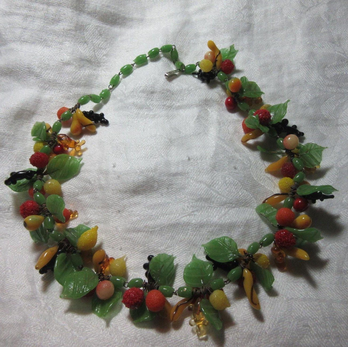 fruit jewelry glass fruit necklace from antiques jewelry sacred 5659